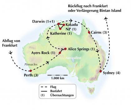 Exklusive Gruppenreise durch Australien - Endlos weit und voller Gegensätze