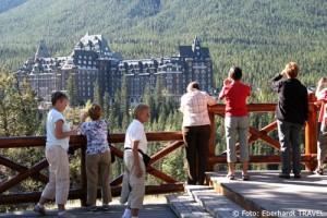 Blick auf das Banff Springs Hotel