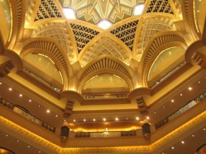 In der Lobby des Emirates Palace