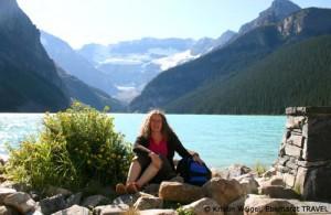 Ich am Lake Louise - dem berühmtesten See im Banff-Nationalpark