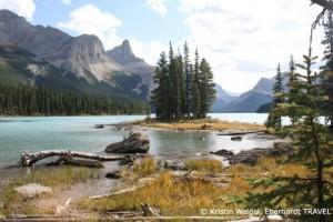 Das bekannteste Fotomotiv der Rocky Mountains - Spirit Island im Maligne-See