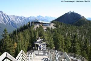 Spaziergang auf dem Sulphur Mountain