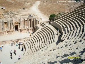 Amphi-Theater in der alten römischen Siedlung Jerash