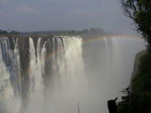 Regenbogen in den Victoria Falls