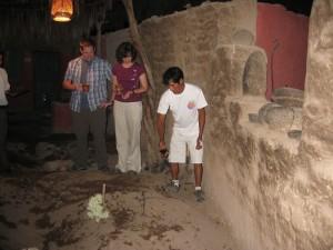 Zeremoniebeginn der Pachamanca