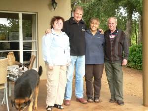 unsere südafrikanischen Gastgeber Shahrzad und Brett Hone