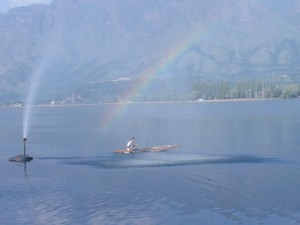 Regenbogen am Dal See