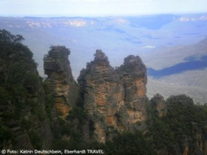 Die berühmten Three Sisters in den Blue Mountains