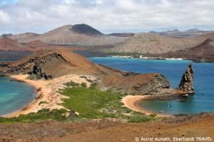 Doppelbucht auf der Galapagos-Insel Bartolomé