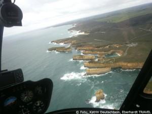 Tolle Ausblicke vom Hubschrauber auf die Zwölf Apostel