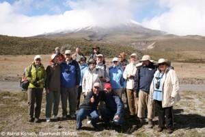 Unsere Reisegruppe am Vulkan Cotopaxi in Ecuador