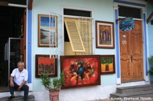 Künstlergasse in Guayaquil an der Küste Ecuadors