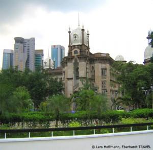 Alter kolonialer Bahnhof in Kuala Lumpur
