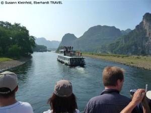 Unsere Bootsfahrt auf dem Li-Fluss bei Guilin
