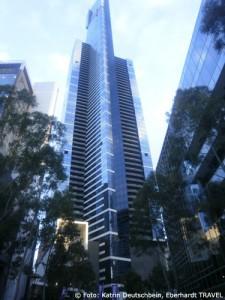 Das ist der Eureka Tower im Melbourne - gleich daneben war unser Hotel