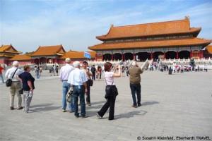 Unsere Reisegruppe in der Verbotenen Stadt in Peking