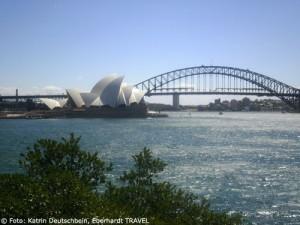 Sydneys Wahrzeichen - die Oper und die Harbour Bridge