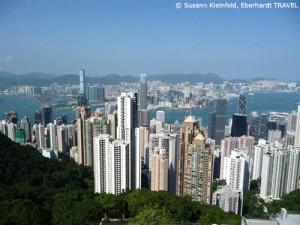 Blick über Hongkong vom Victoria Peak aus