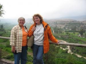 mit Wilson ausserhalb von Arequipa