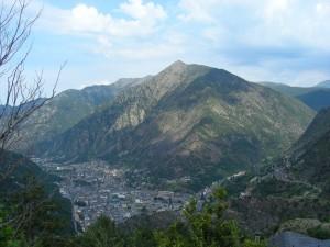 Andorra la Vella von oben