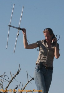 Dr. Rosemary Groom tracking Wild dogs with radio collars