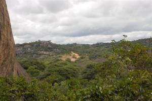 Matobo Nationalpark - Gulubawa Cave -Landschaft