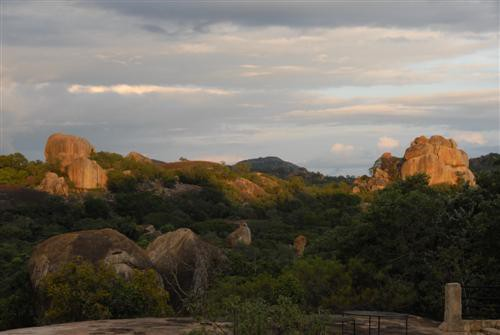 Matobo Nationalpark - bei der Lodge nach Gewitter