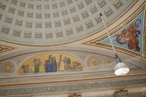 Blick in die Kuppel des Ballsaales