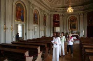 In der Kirche des Barockschlosses Pillnitz