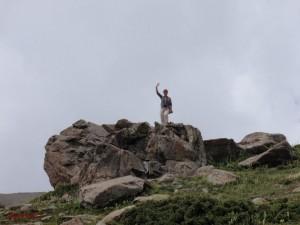 Gabi in 4000 Meter Höhe