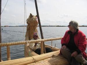 Edith auf dem Titicacasee