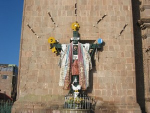 Christusstatur in den Anden