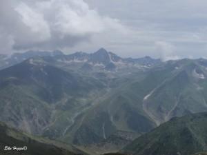 Blick auf die Berge von Pakistan