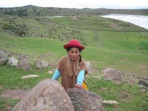 Hirtenmädchen in Peru