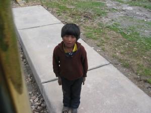 kleiner Junge in Peru