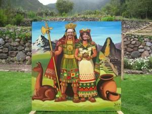 Inkas im Hotelgarten