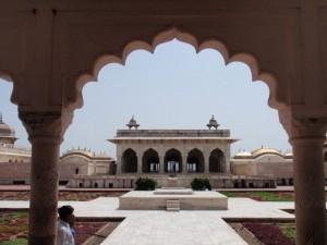 Marmorgebäude im Fort Agra