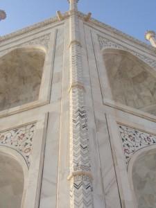 optische Täuschung am Taj Mahal