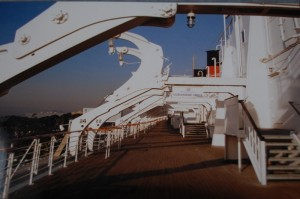 Promenadendeck der Queen Mary