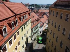 schmale Gäßchen führen von der Albrechtsburg hinab in die Stadt