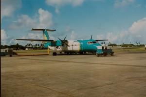 Kurzer Flug von Tobago nach Trinidad