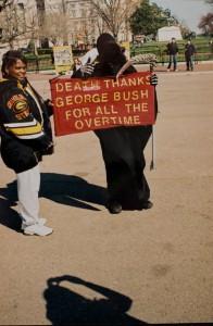 Demonstrant vor dem Weißen Haus (2008)