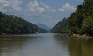 Baleh Fluss auf Borneo