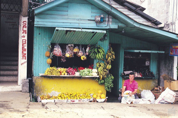 Obststand in Costa Rica