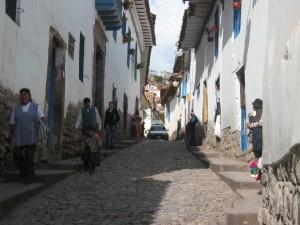 schmale Gasse in Cusco