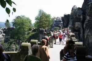 Blick auf die Basteibrücke