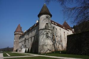 Château Bazoches bei strahlendem Sonnenschein
