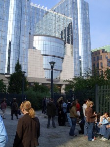 kurz vor dem Besuch des Europaparlaments
