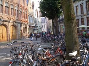 Fahrräder gehören zum Stadtbild