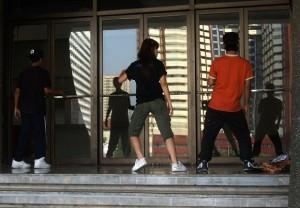 Straßenkinder tanzen